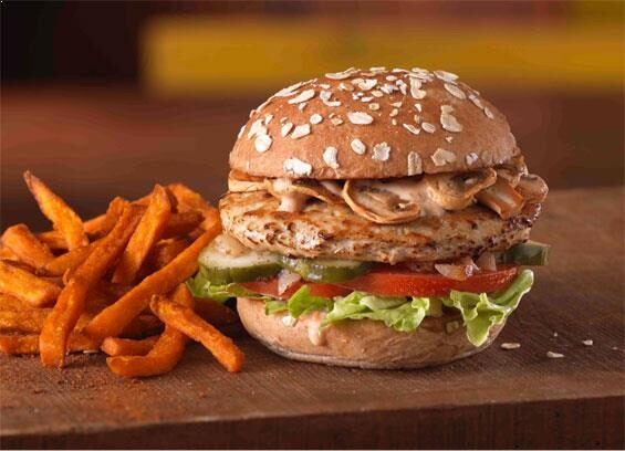 MOOYAH All-Natural Turkey Burgers on multigrain wheat bun