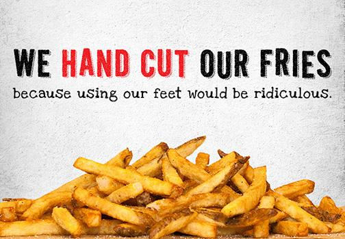 MOOYAH Famous Hand Cut Fries From Idaho Potatoes - Try a MOOYAH burger and fries today