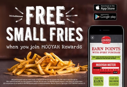 Download the MOOYAH Rewards App And Get Free Small Fries